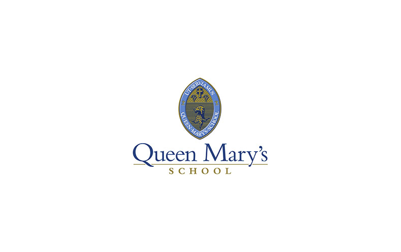 Queen Mary School Logo Slide